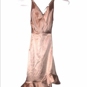Oh Polly Dress Size 4(US) Rose Gold